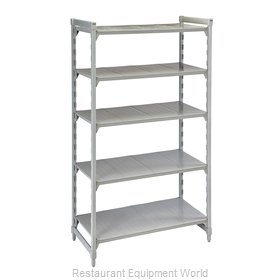 Cambro CPU183672V5480 Shelving Unit, Plastic with Poly Exterior Steel Posts