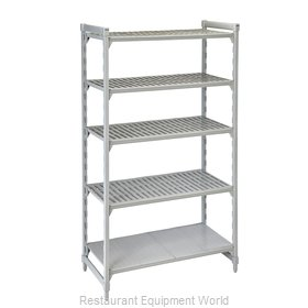 Cambro CPU183684VS5PKG Shelving Unit, Plastic with Poly Exterior Steel Posts