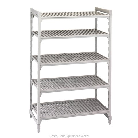 Cambro CPU184884V5PKG Shelving Unit, Plastic with Poly Exterior Steel Posts