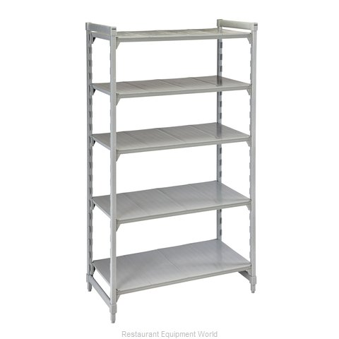 Cambro CPU185484S5PKG Shelving Unit, Plastic with Poly Exterior Steel Posts