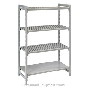 Cambro CPU186084VS4PKG Shelving Unit, Plastic with Poly Exterior Steel Posts