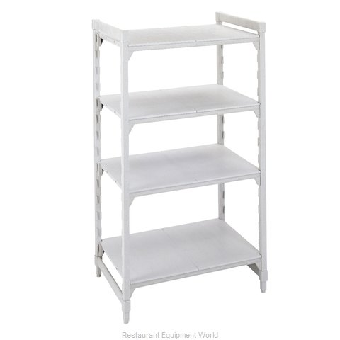 Cambro CPU187272S4PKG Shelving Unit, Plastic with Poly Exterior Steel Posts