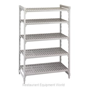 Cambro CPU212472V5480 Shelving Unit, Plastic with Poly Exterior Steel Posts