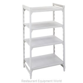 Cambro CPU212484S4PKG Shelving Unit, Plastic with Poly Exterior Steel Posts