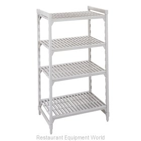 Cambro CPU243084V4PKG Shelving Unit, Plastic with Poly Exterior Steel Posts