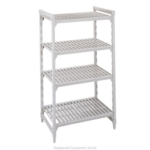 Cambro CPU244864V4480 Shelving Unit, Plastic with Poly Exterior Steel Posts