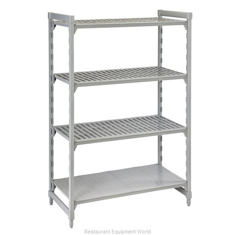 Cambro CPU247284VS4PKG Shelving Unit, Plastic with Poly Exterior Steel Posts
