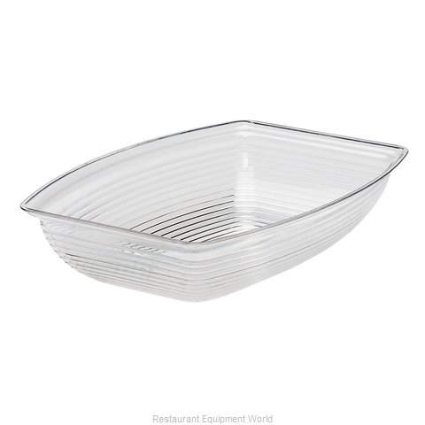 Cambro RSB1014CW135 Rectangle Ribbed Bowl (Magnified)