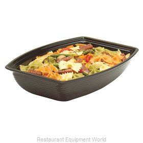 Cambro RSB1419CW110 Rectangle Ribbed Bowl