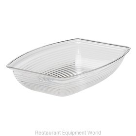 Cambro RSB1419CW135 Rectangle Ribbed Bowl