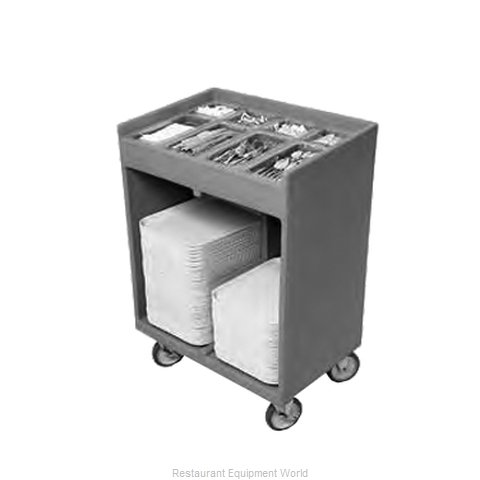 Cambro TC1418180 Flatware & Tray Cart (Magnified)