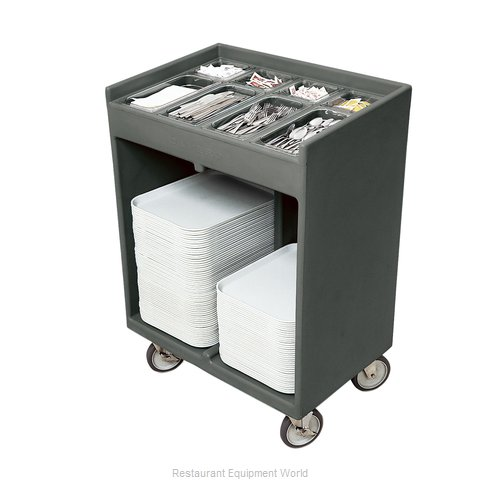 Cambro TC1418191 Tray and Silver Cart (Magnified)
