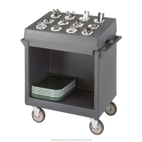 Cambro TDCR12191 Tray and Silver Cart (Magnified)
