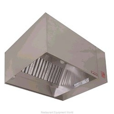 Captive Aire ND-PSP-4SS Exhaust Hood with Front Air Supply