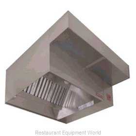 Captive Aire ND-PSP-8SS Exhaust Hood with Front Air Supply