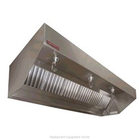 Captive Aire SND-PSP-10SS Sloped Exhaust Hood w/ Air Supply