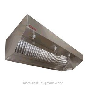 Captive Aire SND-PSP-15SS Sloped Exhaust Hood w/ Air Supply