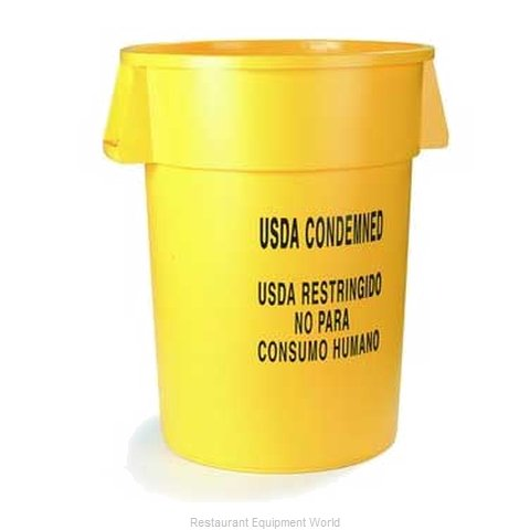 Carlisle 341032USDA04 Trash Garbage Waste Container Stationary (Magnified)