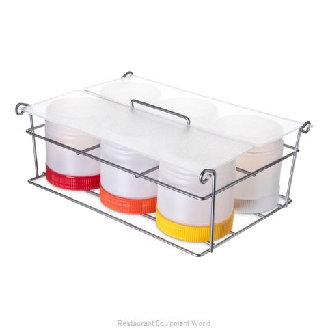 Carlisle PS101CS00 Condiment Caddy, Countertop Organizer (Magnified)