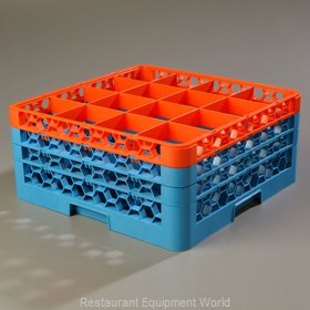 Carlisle RG16-3C412 Dishwasher Rack, Glass Compartment