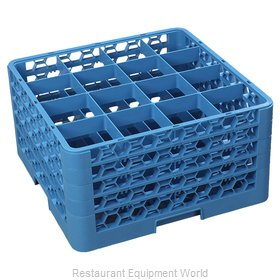 Carlisle RG16-414 Dishwasher Rack, Glass Compartment