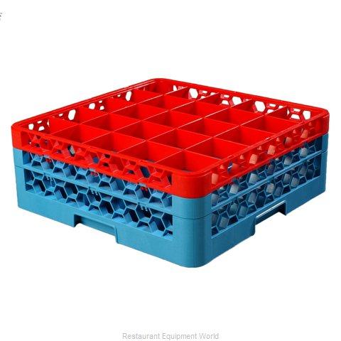 Carlisle RG25-2C410 Dishwasher Rack, Glass Compartment