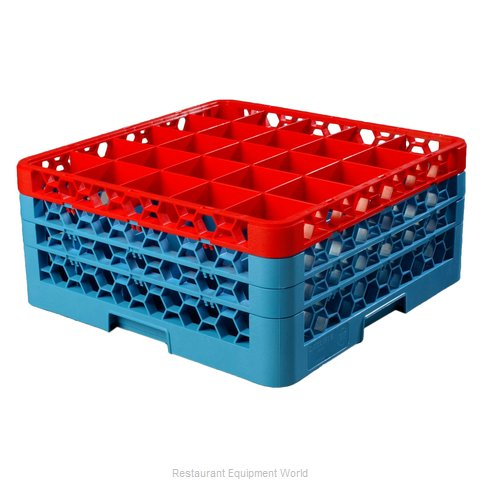 Carlisle RG25-3C410 Dishwasher Rack, Glass Compartment