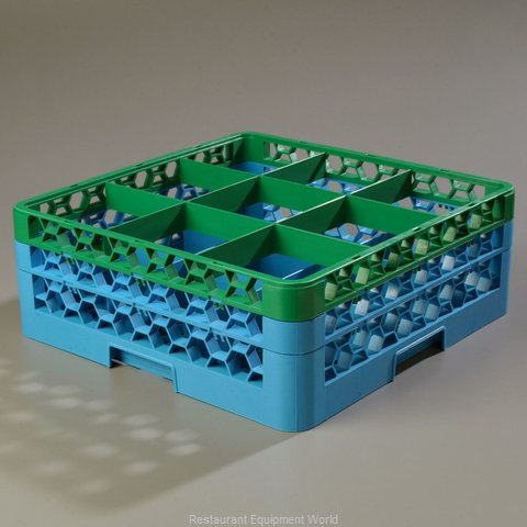 Carlisle RG9-2C413 Dishwasher Rack, Glass Compartment