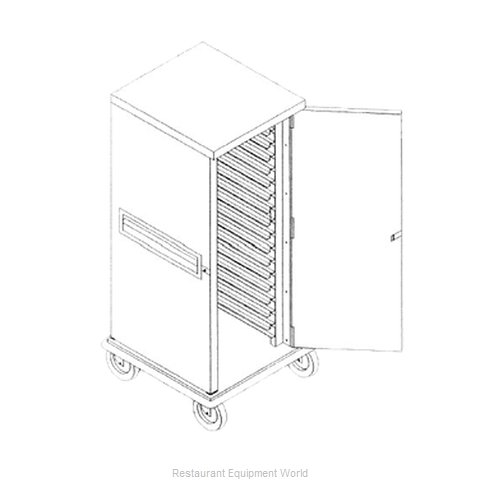 Caddy Corporation T-1220-C Bun Pan Rack Cabinet Mobile Enclosed (Magnified)