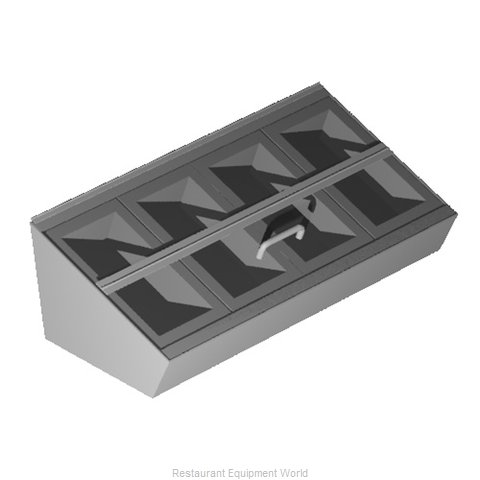 Caddy Corporation T-320 Flatware Silverware Holder Dispenser (Magnified)