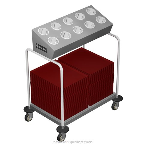 Caddy Corporation T-404 Tray and Silver Cart