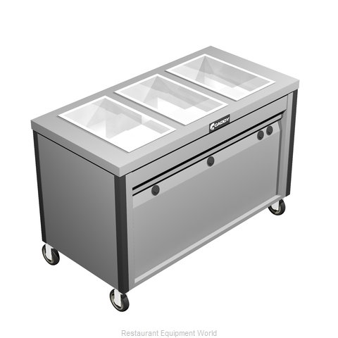 Caddy Corporation TF-623 Serving Counter Hot Food Steam Table Electric