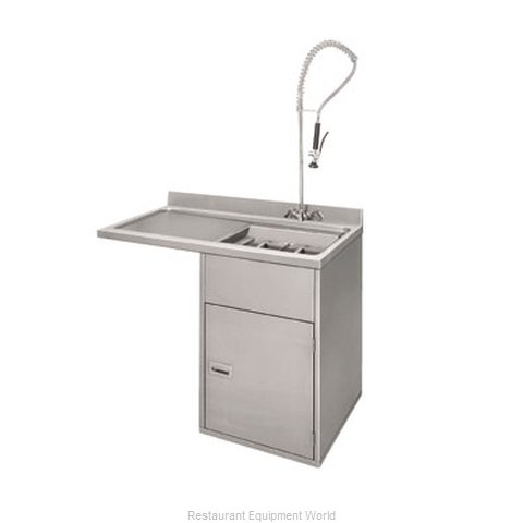 Champion 1-RDT-L Dishtable Soiled Undercounter Type (Magnified)