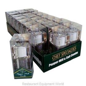 Chef Specialties 01551 Salt / Pepper Shaker & Mill, Combo
