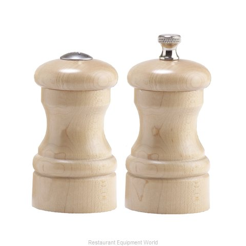 Chef Specialties 04300 4inch Capstan Natural Maple Pepper Mill and Sal