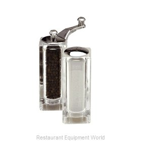 Chef Specialties 08370 4.5inch malibu Acrylic Pepper Mill and Salt Sha