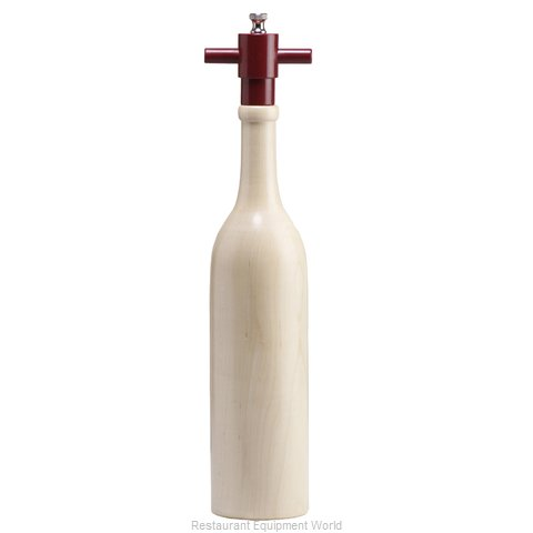 Chef Specialties 16005 14.5 Natural Tall Wooden Wine Bottle Pepper Mil
