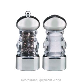 Chef Specialties 29160 5.5inch Lori Acrylic and chrome pepper mill sal