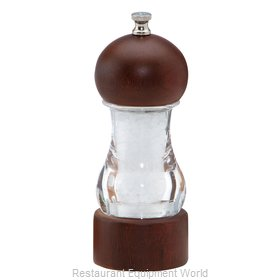 Chef Specialties 29184 Vanguard 6inch Walnut and Acrylic Salt Mill