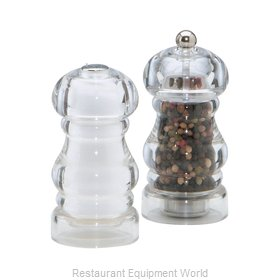 Chef Specialties 29190 5inch Laurel Acrylic Pepper Mill and Salt Shake