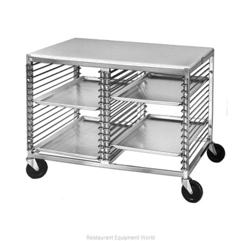 Channel Manufacturing 565/P Prep Cart Pan Rack w Work Top