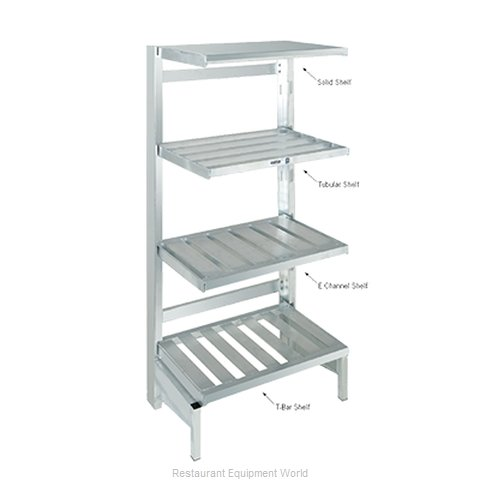 Channel Manufacturing SC2448 Shelving, Solid Cantilevered