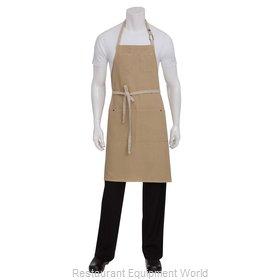 Chef Works ABCD056NAT0 Bib Apron