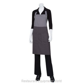 Chef Works ASCB22GGY0 Bib Apron