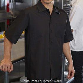 Chef Works CSCVBLKXS Cook's Shirt