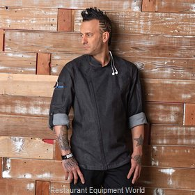 Chef Works EXDZ001BLKXS Chef's Coat