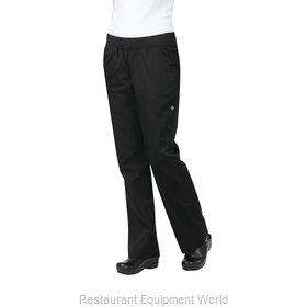 Chef Works PBN01WBLKL Chef's Pants