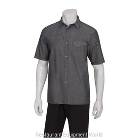 Chef Works SKS002BLKXS Cook's Shirt