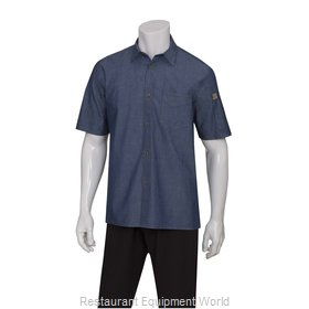 Chef Works SKS002IBL2XL Cook's Shirt