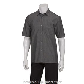 Chef Works SKS003BLKXS Cook's Shirt